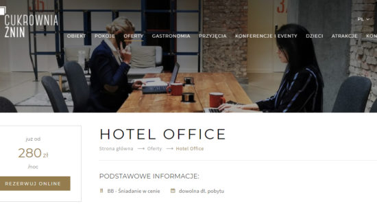 Marketing hotelu - hotel office